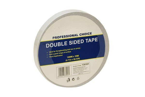 Double Sided Tape18mm  x30m - Grocery Deals