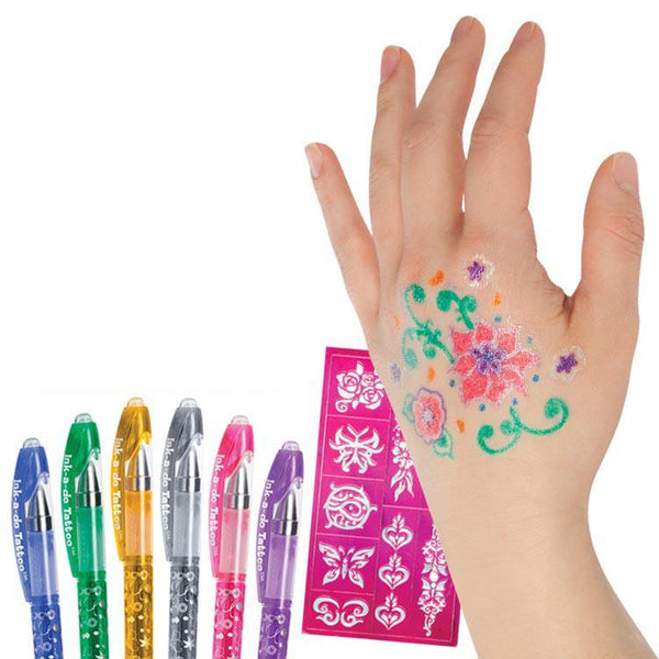 Tattoo Glitter Gel Pen - 6 Pack - Grocery Deals