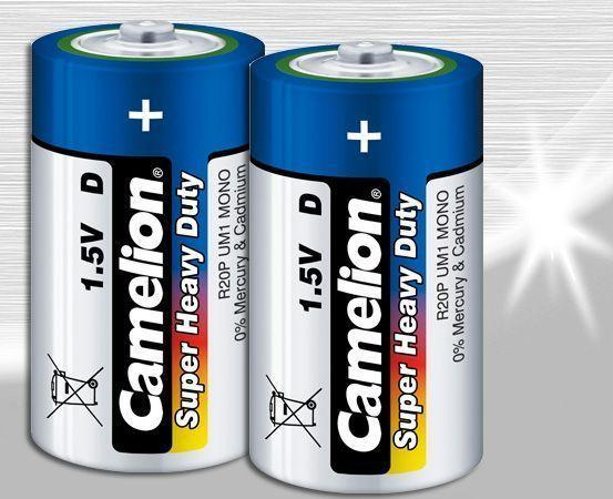 2 x Camelion Super Heavy Duty D Size Battery - Grocery Deals