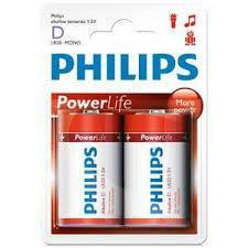 2 x Philips Power Alkaline D Batteries - Grocery Deals