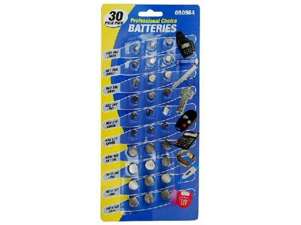 30pc Button Battery Pack - Grocery Deals