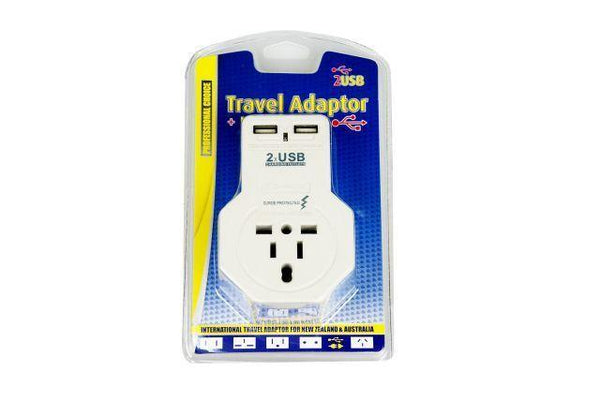 Universal Power Outlet with 2 USB Charging Port 10amp - Grocery Deals