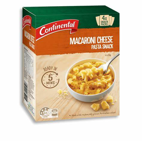 Continental Macaroni Cheese Pasta Snack