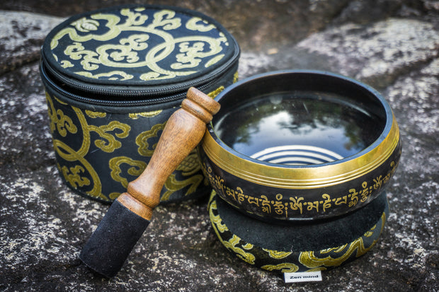 "5"" Ohm Mantra Tibetan Singing Bowl Gift Set"