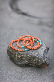 Sandalwood & Turquoise Mala Prayer Beads