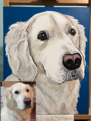 Colleen Brazell Pet Portraiture acrylic paint