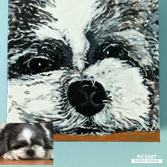 Colleen Brazell Pet Portraiture acrylic
