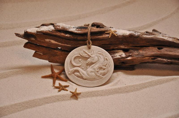 Unicorn under the Moon Sand Ornament