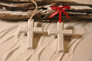 Cross Sand Ornament