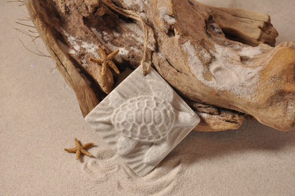 SAND ORNAMENT, CHRISTMAS TREE ORNAMENT, TROPICAL CHRISTMAS DECORATIONS, COASTAL ORNAMENT, SAND ORNAMENT, TROPICAL ORNAMENT, ARENOPHILE, HANO, SEA TURTLE, TURTLE