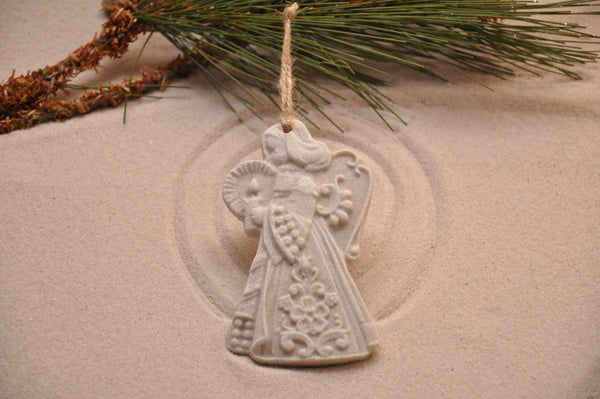 SAND ORNAMENT, CHRISTMAS TREE ORNAMENT, TROPICAL CHRISTMAS DECORATIONS, COASTAL ORNAMENT, SAND ORNAMENT, TROPICAL ORNAMENT, ARENOPHILE, SANTA, CHRISTMAS ORNAMENT, ANGEL