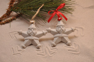 Santa Star Sand Ornament