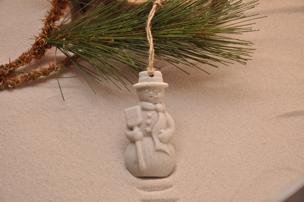 SAND ORNAMENT, CHRISTMAS TREE ORNAMENT, TROPICAL CHRISTMAS DECORATIONS, COASTAL ORNAMENT, SAND ORNAMENT, TROPICAL ORNAMENT, ARENOPHILE, SANTA, CHRISTMAS ORNAMENT, SNOWMAN