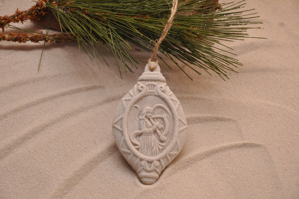 SAND ORNAMENT, CHRISTMAS TREE ORNAMENT, TROPICAL CHRISTMAS DECORATIONS, COASTAL ORNAMENT, SAND ORNAMENT, TROPICAL ORNAMENT, ARENOPHILE, SANTA, CHRISTMAS ORNAMENT, CHRISTMAS TREE, ANGEL, Herald Angel