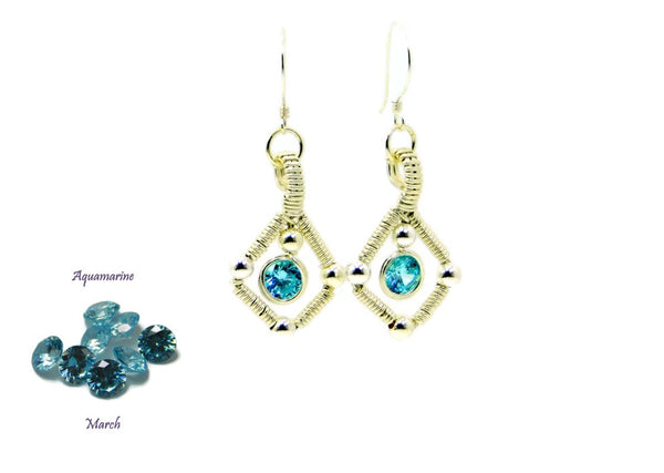 Vibrant Collection - Sterling Silver Single Gem Earrings