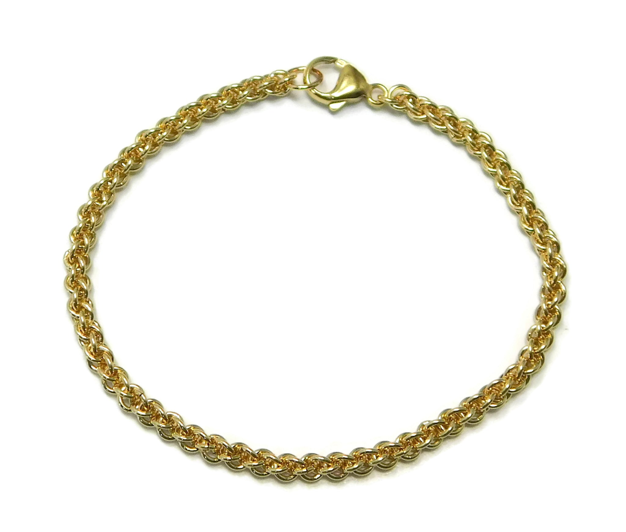 14kt gold fill jens pind chainmaille bracelet