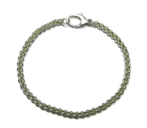 Sterling Silver Jens Pind Weave Chainmaille Bracelet