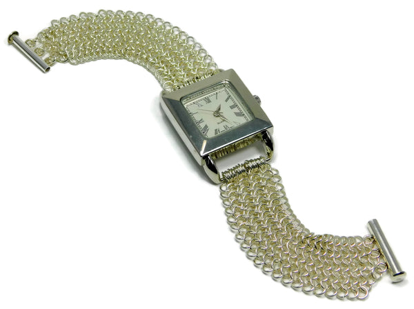 Sterling Silver European 4 in 1 Chainmaille Watch