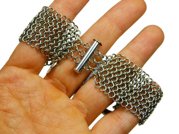 European 4 in 1 chainmaille slide lock clasp