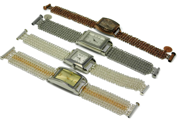 European 4 in 1 chainmaille watches