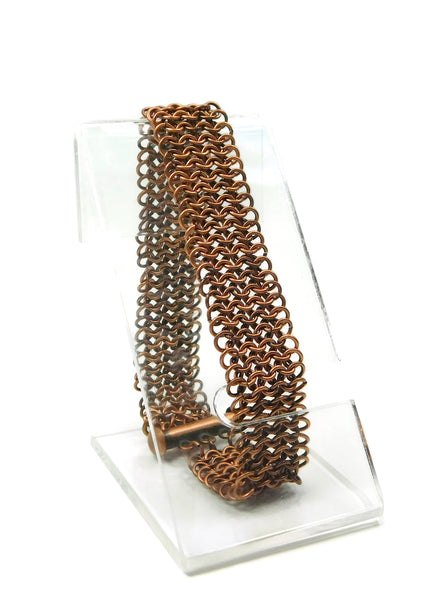 Antiqued Copper European 4 in 1 Chainmaille Bracelet