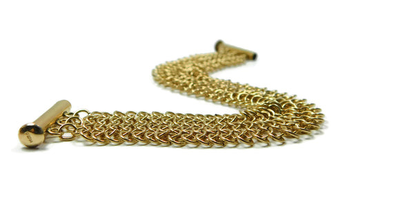 14kt gold fill European 4 in 1 chainmaille bracelet