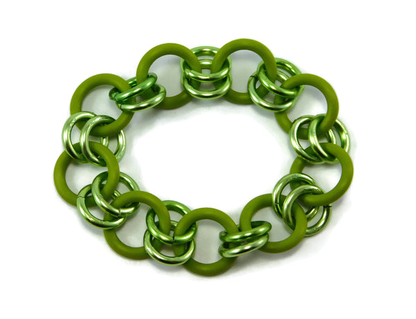Stretchy Oh! Ring Beginner Chainmaille Bracelets