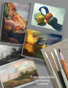 11/16 9:30am - 3pm Painting Foundation Workshop: Value and Color Theory with Francesco Gillia