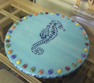 11/12 & 11/14 6pm - 8pm Sip & Play Hand Painted Lazy Susan with Pat Johnson & Sally Schmett