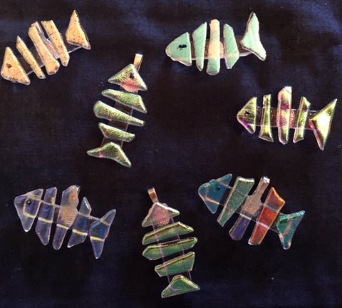 Pat Johnson Dichroic Glass Fish Pendant Class