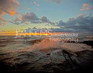 Lake Erie Sunrise Photographic Art Jeanne Schwerkoske