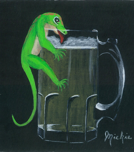 Louie the Lounge Lizard Coasters - Set of Six - Click image for more info