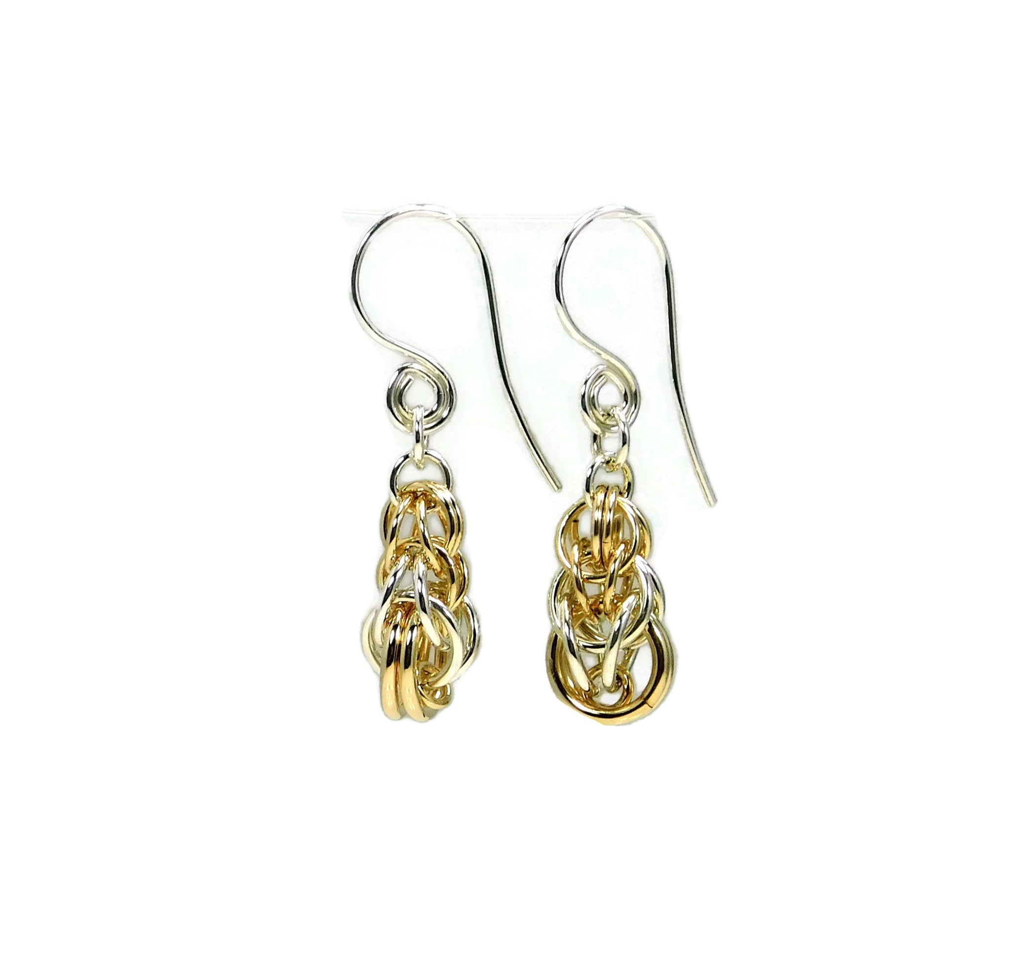 Sterling Silver & 14kt Gold Fill Graduated Full Persian Earrings
