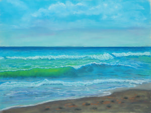 Ocean Waves Beginner Pastel Class with Sally Schmett