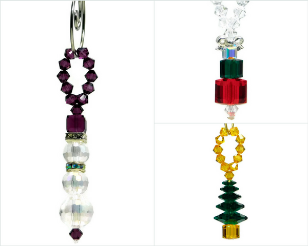 Swarovski Needle Free Beadwork Single Loop Christmas Ornaments