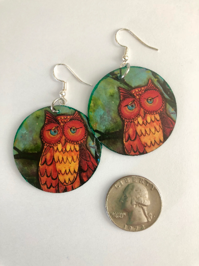"""Owl"" Earrings"