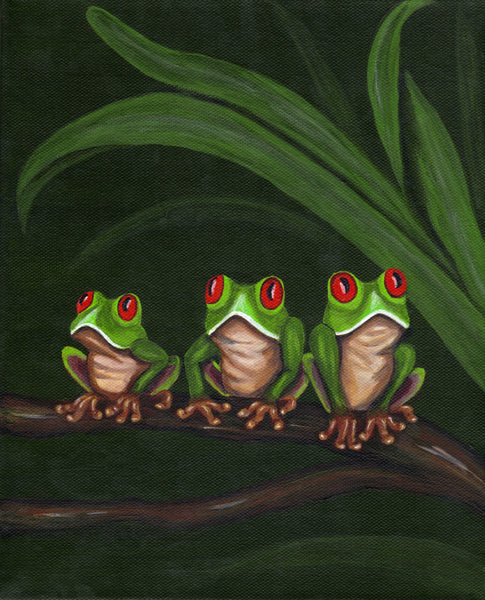 Red Eye Frogs Coasters - Set of Six - Click image for more info