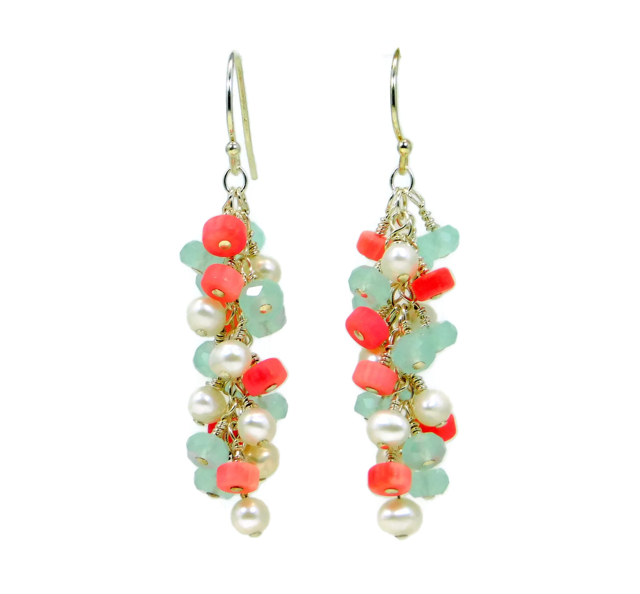 Paradise Earrings Freshwater Pearl Sandy Jones