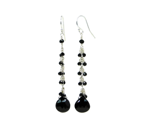 Black Spinel Midnight Earrings Sandy Jones