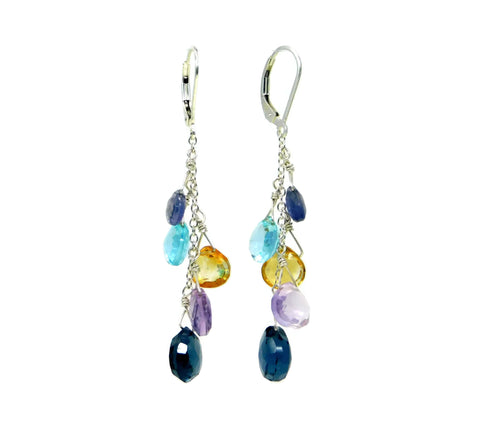 Semi Precious Briolette Happy Earrings Sandy Jones