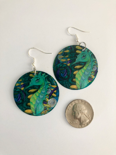 """Seahorse"" Earrings"