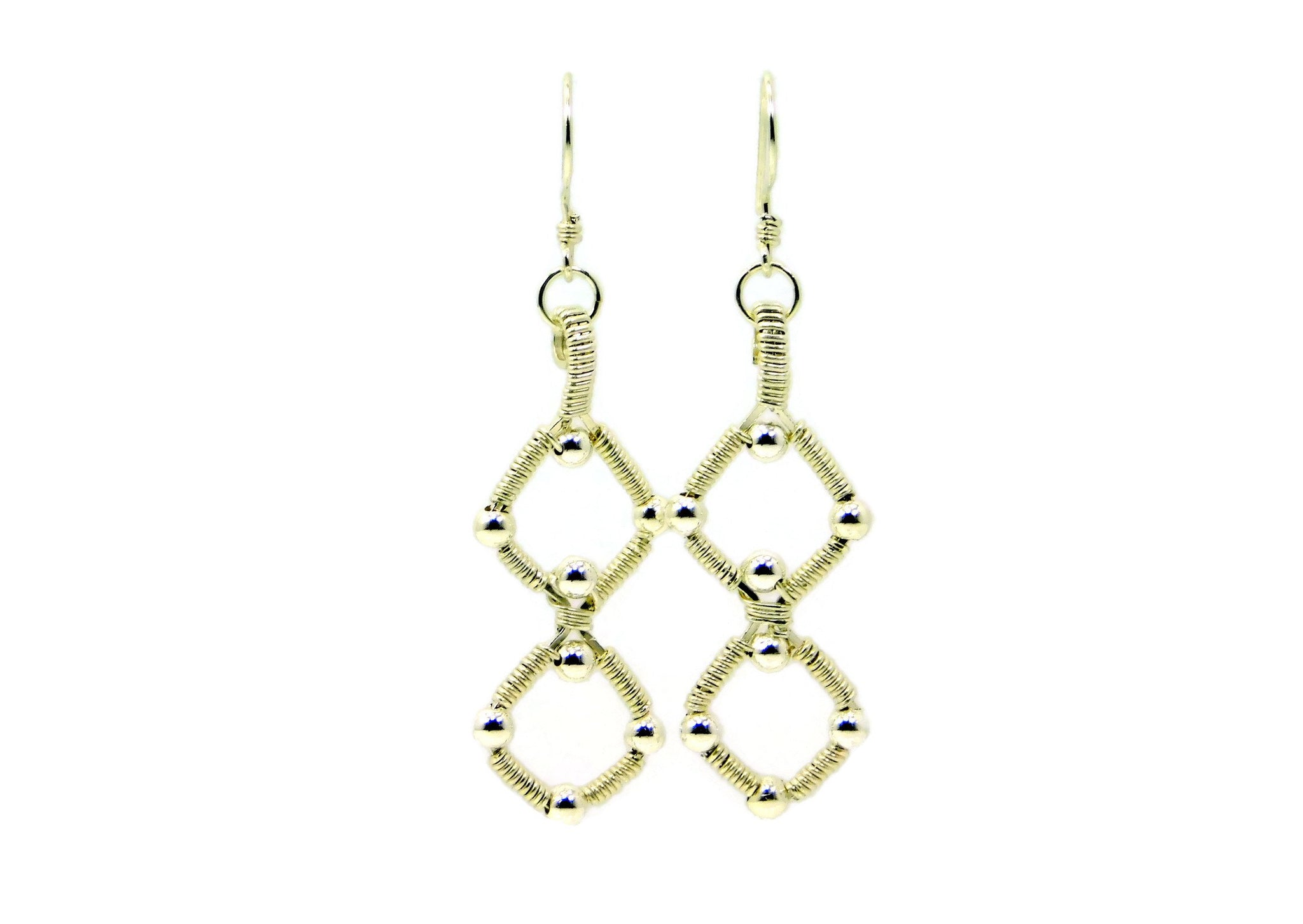 Sterling Silver Double Profile Earrings