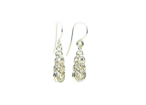 Sterling Silver Graduated Full Persian Earrings
