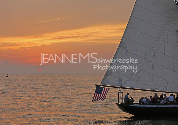 Tall Ship Sunset Photographic Art Jeanne Schwerkoske