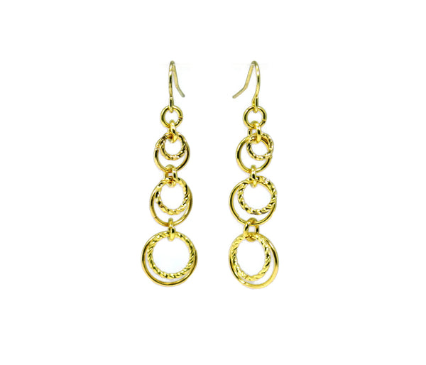 Chainmaille Mastering the Basics Textured Circlet Dangle Earrings