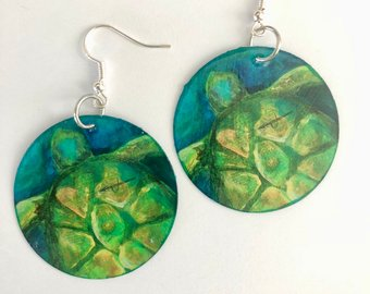 """Turtle Love"" Earrings"
