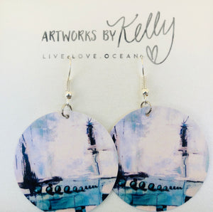 earrings paper earrings abstract earrings original art earrings