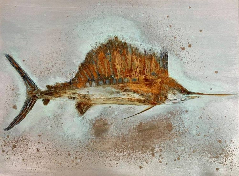 fish art rachelle meagher sailfish painting fine art cape coral art art painting