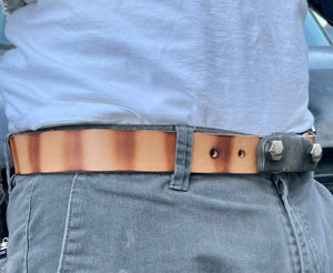 The Knuckle Buckle with Stripe Belt (New)