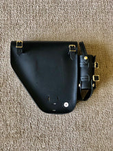 Inside Out Windy Fuel Bag Black Leather - Left Side Mount (PTM)